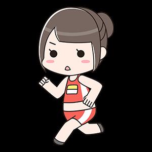 走ってる女の子
