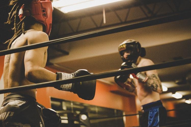 ボクシングをしてる選手たち