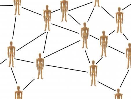 人間関係のネットワークの画像